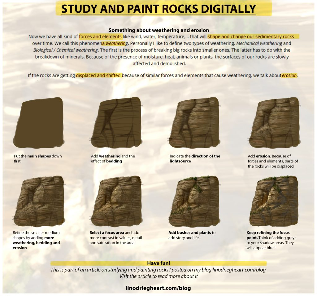 How To Study And Paint Rocks Tutorial