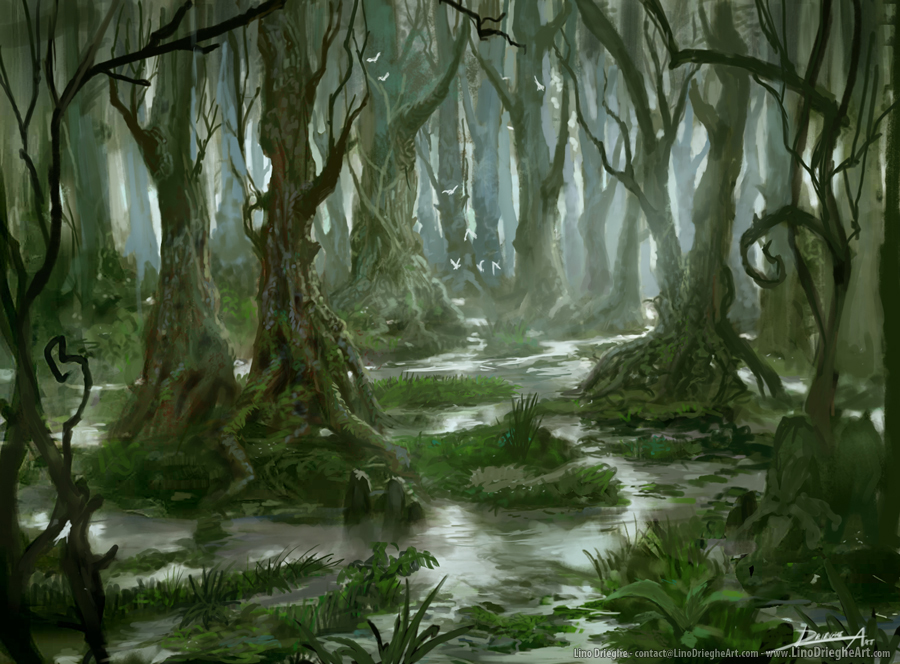 My Own Magic Cards Project: Swamp card