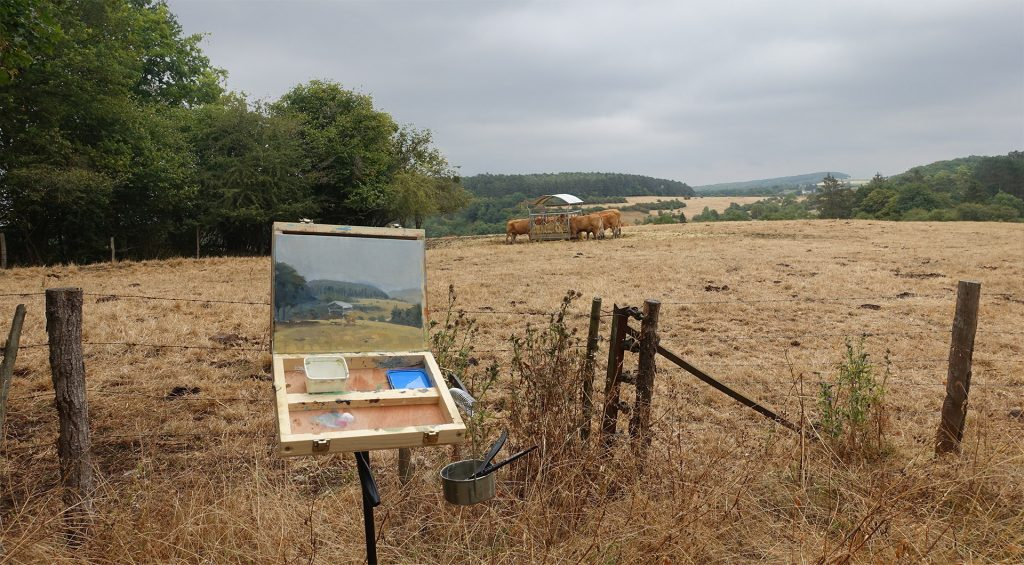 Plein Air Painting trip to the Ardennes