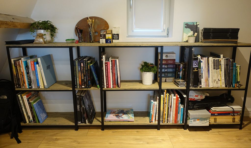 Creating a bookcase for my new workspace