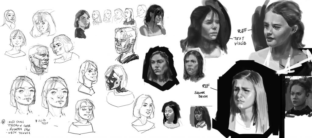 Analog and digital face and portrait studies